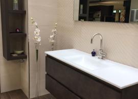 Rincón baño solado imitando madra